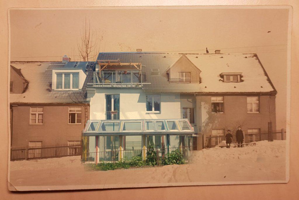 Das Haus, früher und heute.